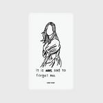 (보조배터리)-Forget me-white