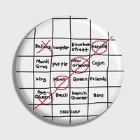 (손거울) Four bingo-white