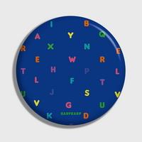 (손거울) Alphabet-blue