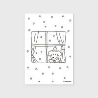 (엽서) winter dog