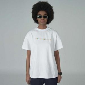 Block color logo tshirt-white