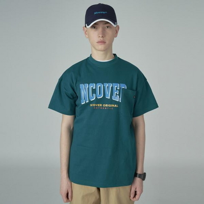 Big logo pocket tshirt-green
