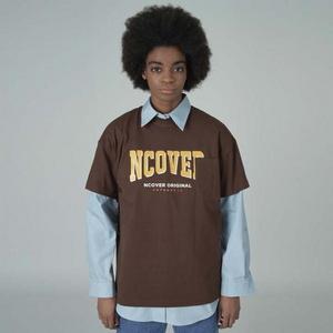 Big logo pocket tshirt-brown