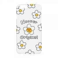 Smile flower case-white
