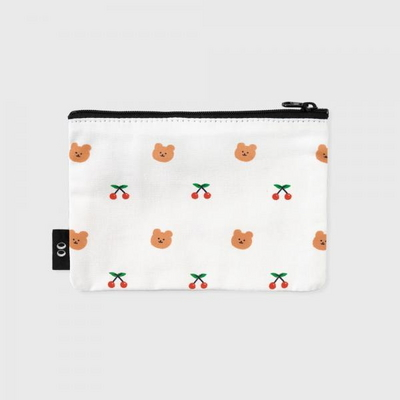 dot cherry bear-white(파우치)(S)