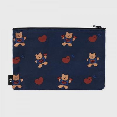 bear heart-navy(파우치)(L)