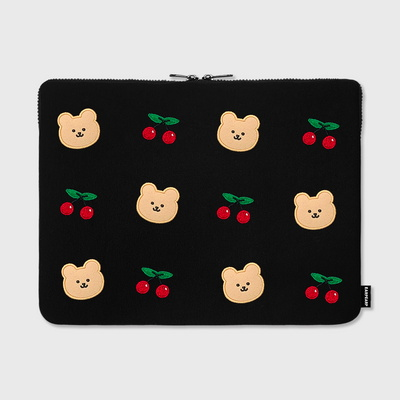 Dot cherry bear-15inch notebook pouch(15노트북 파우치)