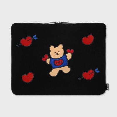 Bear heart-15inch notebook pouch(15노트북 파우치)
