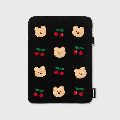 Dot cherry bear- 아이패드 파우치