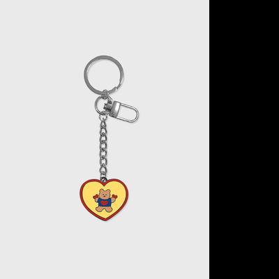 Bear heart double(금속 키링)