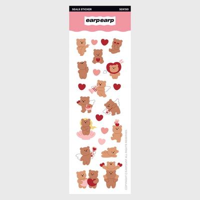 Angel bear heart(홀로그램스티커)