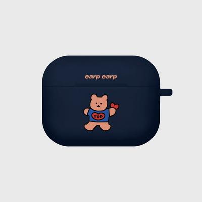 Bear heart-navy(Air pods pro)