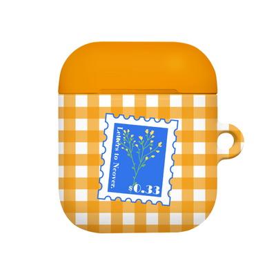 Flower stamp-orange(airpods hard)