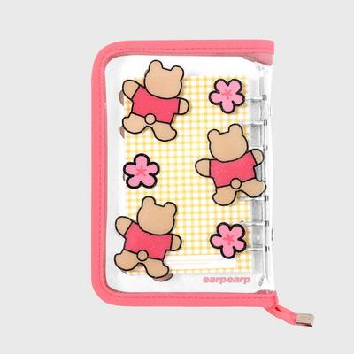 Blossom bear heart-pink(6hole diary)