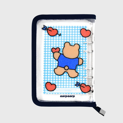Bear heart-navy(6hole diary)
