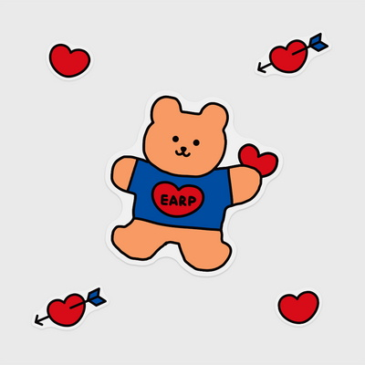 Bear heart(커팅 스티커)