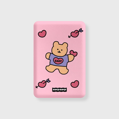 Bear heart-pink(무선충전보조배터리)