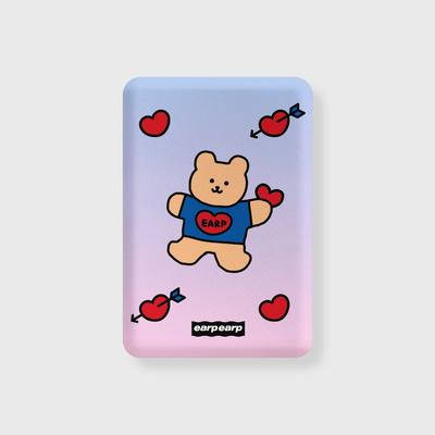 Gradation bear heart-blue/purple(무선충전보조배터리)