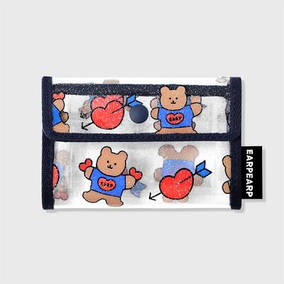 Bear heart-navy(PVC 카드지갑)