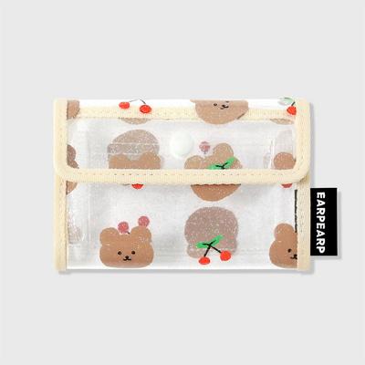 Dot cherry bear-ivory(PVC 카드지갑)