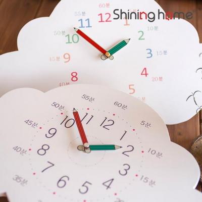 모니에 무소음 구름 교육용 벽시계