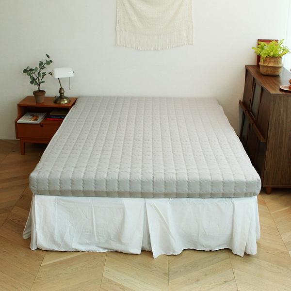 린폴 3단 접이식 매트리스 8cm 퀸 패드세트