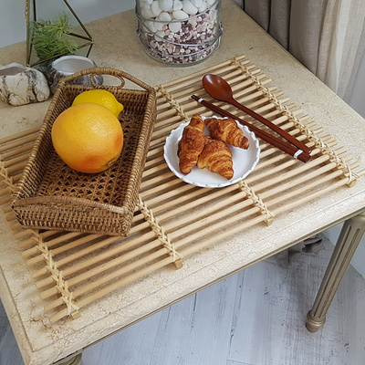 이너스라탄 사각 플래터 식탁매트 L