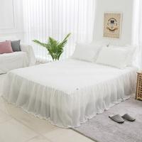 네이블 엠보 시어서커 프릴 침대 스커트 Q