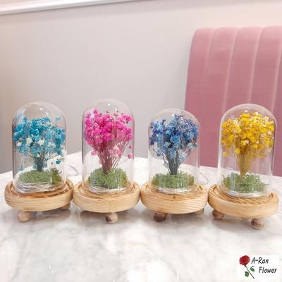 프리저브드 플라워 안개꽃 꽃다발 조명 무드등