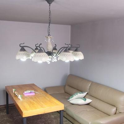 boaz 크라운8등(도자기) 방등 거실등 인테리어 조명