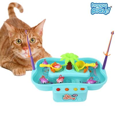 고피싱 고양이 움직이는 물고기 낚시대 장난감