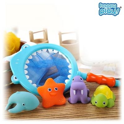 바다친구 아기 목욕놀이 유아 물놀이 샤워 뜰채 장난감 상어