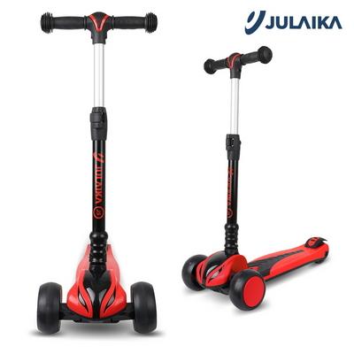 줄라이카 킥보드 J5 유아 접이식 어린이용 킥보드 씽씽카 LED바퀴 레드