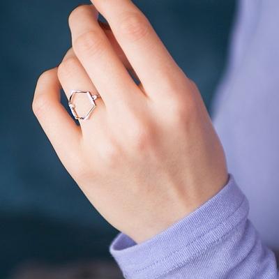 펜타곤 도형 반지