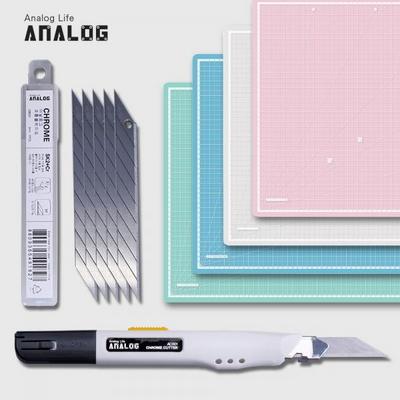 아날로그 셀프힐링 반투명 커팅매트 A2+크롬커터+리필칼날