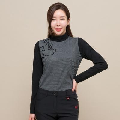 젊은감성 여성골프복-미키 기모 단가라반목티 M L XL  골프 티셔츠 겨울골프의류