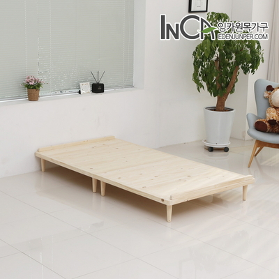 플로렌스 북유럽풍 평상형 원목 침대 슈퍼싱글
