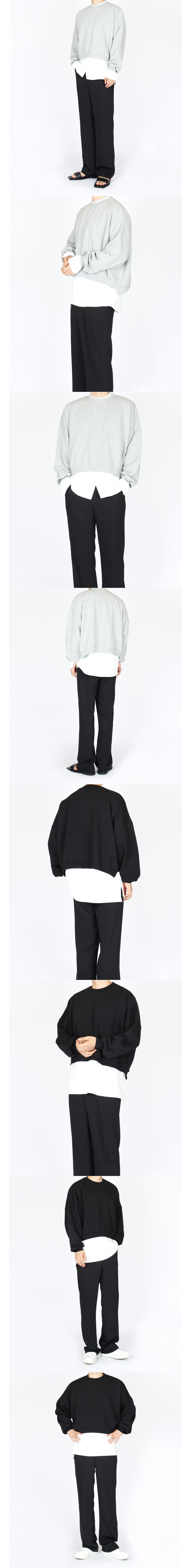 크롭 맨투맨 티셔츠 (3 colors) - 센티멘탈워크, 30,000원, 상의, 맨투맨/후드티
