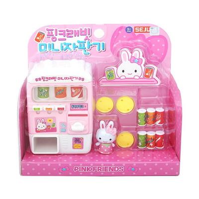 핑크래빗 미니 자판기 장난감 소꿉놀이 캐릭터장난감