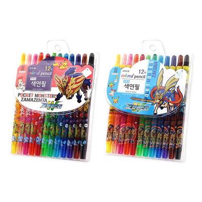 포켓몬스터W 12색 돌돌이 색연필