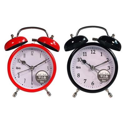 엔틱 모던 저소음 쌍종 탁상 시계