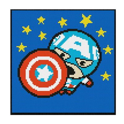 DIY 보석십자수 마블시리즈 가와이 캡틴아메리카 25X25