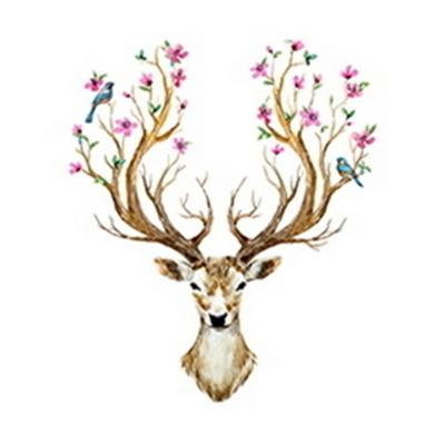 DIY명화그리기 유화 그림 코스모스 사슴과 새 40X50