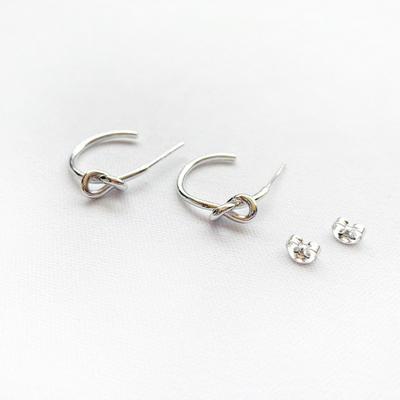 925실버 프레즐 링 귀걸이-925전체실버 귀걸이-순은귀걸이
