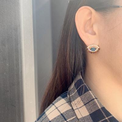[실버문] 브라운 아이즈 귀걸이