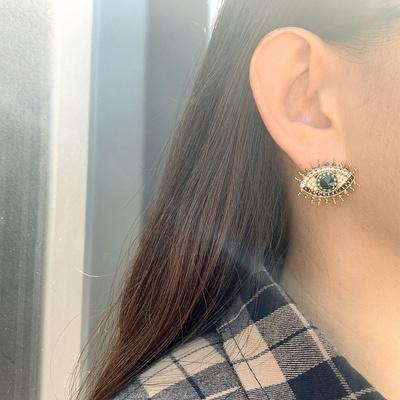 [실버문] 그린 아이즈 귀걸이