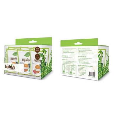 냉장고 신선야채보존&탈취제 탑프레쉬 6개 Set