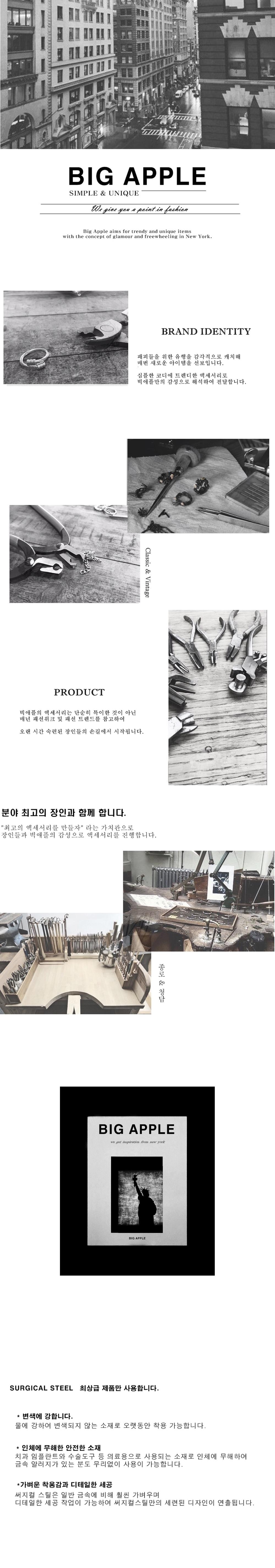 남자 반지 패션 십자가 체인 연결 써지컬 스틸 TSL - 빅애플, 20,000원, 남성주얼리, 반지