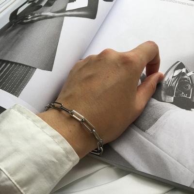 남자 팔찌 패션 체인 사슬 써지컬 스틸 chain brace