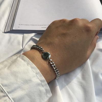 남자 팔찌 코인 써지컬 스틸 체인 SC bracelet